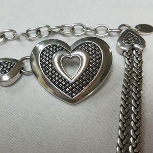Silver Heart Chain Belt w/M Trademark